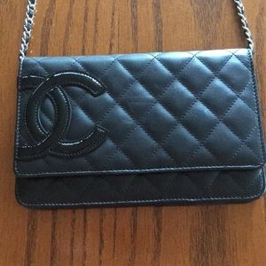 Chanel Cambon Wallet on Chain Quilted Leather